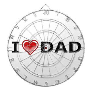 I Love My Dad Dartboard
