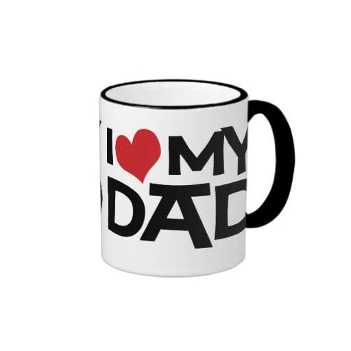 I Love My Dad Father's Day Ringer Mug