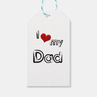i love my dad gift tags