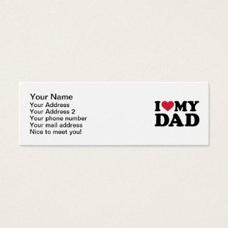 I love my dad mini business card