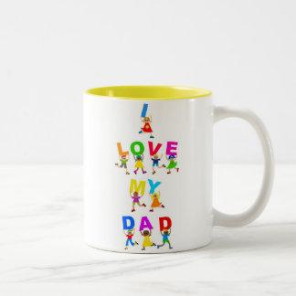 I Love My Dad Coffee Mugs