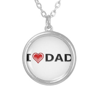I Love My Dad Silver Plated Necklace