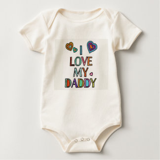 I Love My Daddy Baby Bodysuit Organic