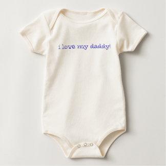 I love my daddy! (blue) baby bodysuit
