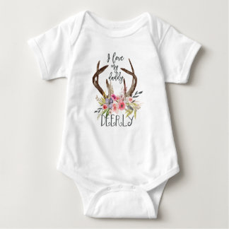 I love my daddy deerly baby bodysuit