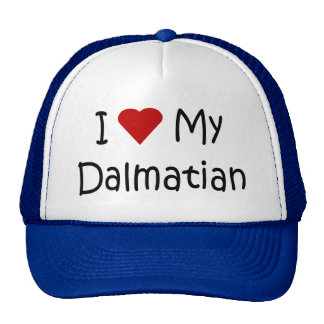 I Love My Dalmatian Dog Breed Lover Gifts Mesh Hats