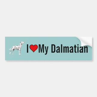 I Love My Dalmatian Dog Bumper Sticker