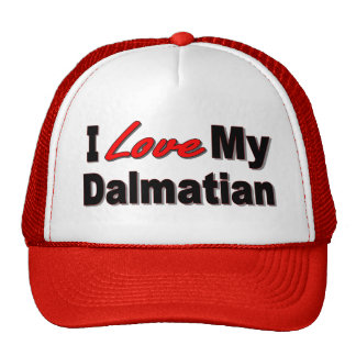 I Love My Dalmatian Dog Gifts and Apparel Mesh Hats