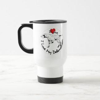 I Love My Dalmatian Dog Travel Mug