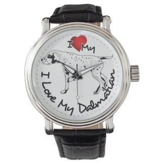 I Love My Dalmatian Dog Watch