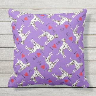I Love my Dalmatian Throw Pillow