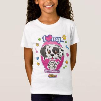 I Love My Dalmation Apparel T-Shirt