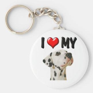 I Love My Dalmation Basic Round Button Keychain