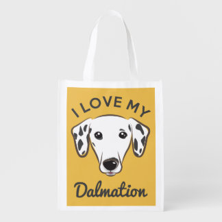 """I Love My Dalmation"" Reusable Tote Market Totes"