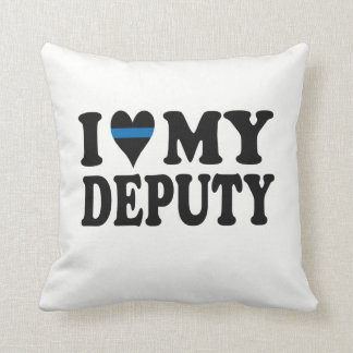 I LOVE MY DEPUTY THROW PILLOW