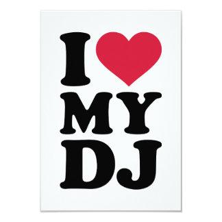 """I love my DJ 3.5"""" X 5"""" Invitation Card"""
