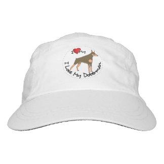 I Love My Doberman Dog Hat
