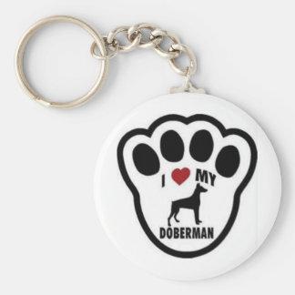 I love my Doberman paw print Keychain