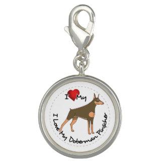 I Love My Doberman Pinscher Dog Charms