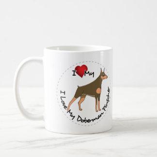 I Love My Doberman Pinscher Dog Coffee Mug