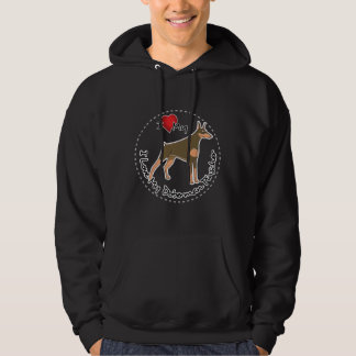 I Love My Doberman Pinscher Dog Hoodie