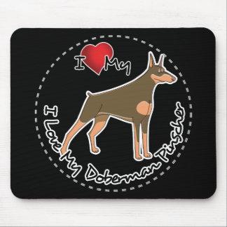I Love My Doberman Pinscher Dog Mouse Pad