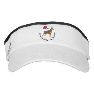 I Love My Doberman Pinscher Dog Visor