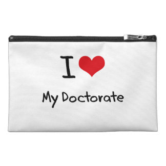 I Love My Doctorate Travel Accessories Bags