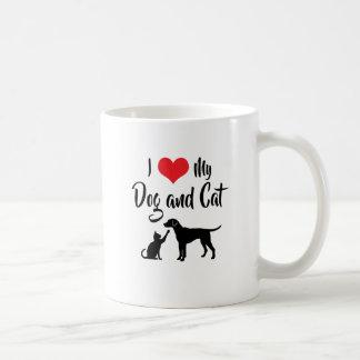 I Love My Dog and Cat Coffee Mug