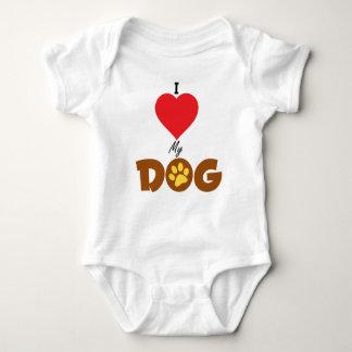 I Love My Dog Baby Bodysuit