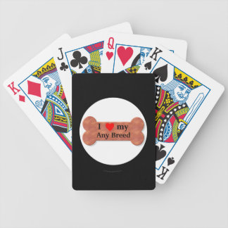 I love my dog breed bicycle playing cards