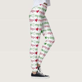 I love My Dog Christmas Leggings