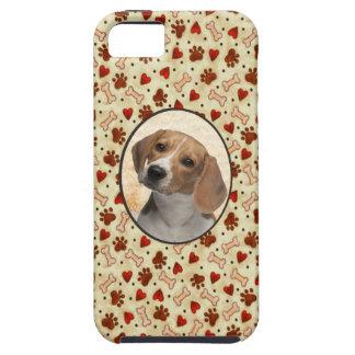 I Love My Dog Custom Pet Photo Bone Treats iPhone 5 Case