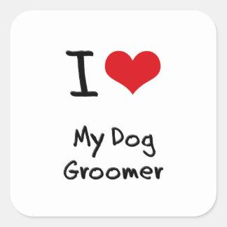 I Love My Dog Groomer Stickers
