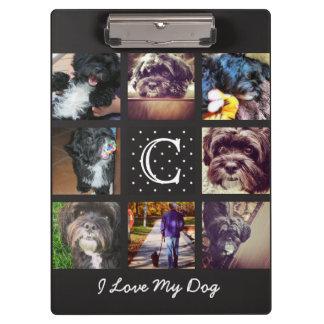 """I Love My Dog "" Instagram Collage Clipboard"