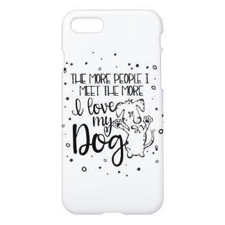 I Love My Dog iPhone 7 Case - Customizable
