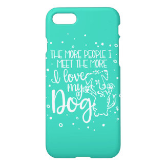 I Love My Dog iPhone 7 Case - Mint