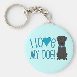I love my dog! keychain
