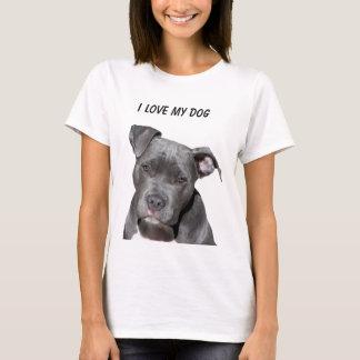 I Love My Dog Pitbull T-Shirt