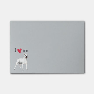 I Love my Dogo Argentino Post-it® Notes