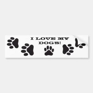 I love my dog's! bumper sticker