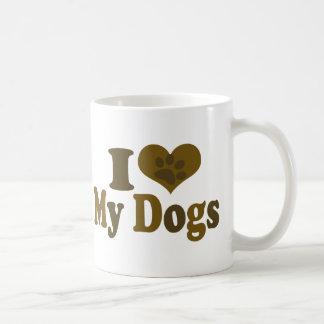 I Love my Dogs Coffee Mug