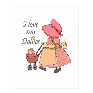 I LOVE MY DOLLIES POSTCARD