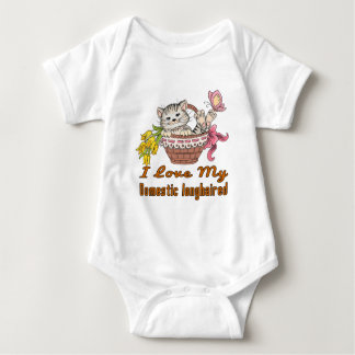 I Love My Domestic longhaired Baby Bodysuit