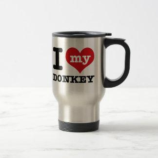 I Love my donkey Travel Mug