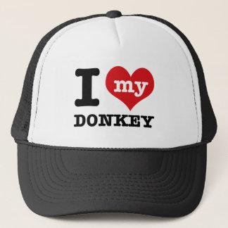 I Love my donkey Trucker Hat