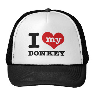 I Love my donkey Trucker Hat