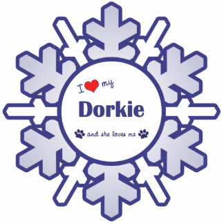 I Love My Dorkie (Female Dog) Photo Sculpture Ornament