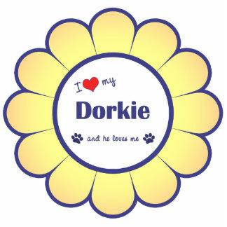 I Love My Dorkie (Male Dog) Photo Sculpture Ornament
