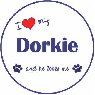 I Love My Dorkie (Male Dog) Cut Outs